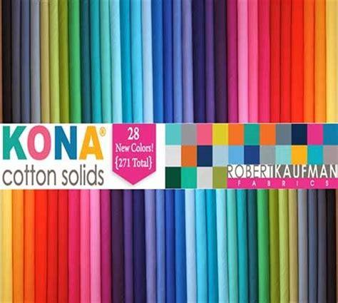 kona cotton color card fabrics