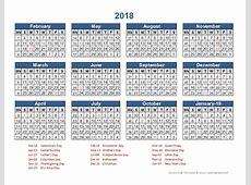 2018 Retail Accounting Calendar 445 Free Printable