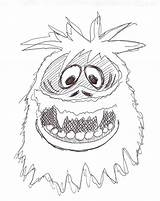 Snowman Abominable Coloring Pages Monster Rudolph Drawing Snow Christmas Drawings Reindeer Nosed Yeti Cartoon Colouring Monsters Miser Heat Getdrawings Disney sketch template
