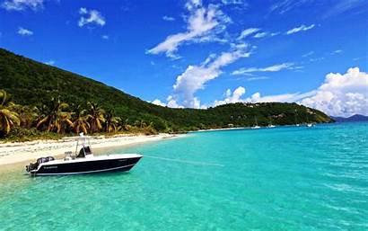 Caribbean Sea Desktop Beach Boat Wallpapers Island