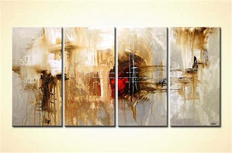 Home Decor Paintings 3 Panel Classic Paris Oil Painting On: Buy Abstract Painting Multi Panel #4142