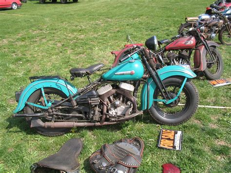 original paint blue 1948 1957antique and vintage harley