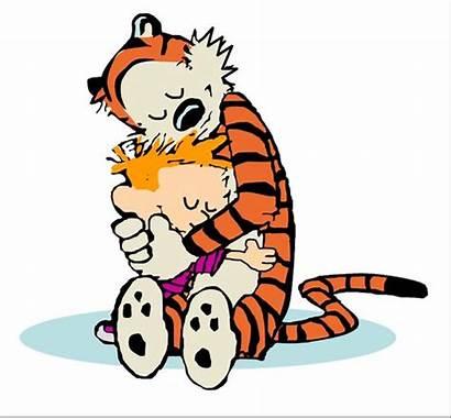 Clip Clipart Calvin Hobbes Sharing Hugging Cliparts
