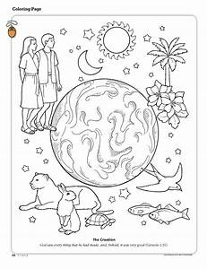7 Days Of Creation Coloring Pages - AZ Coloring Pages
