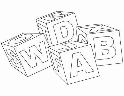 Blocks Coloring Block Pages Alphabet Printable Abc