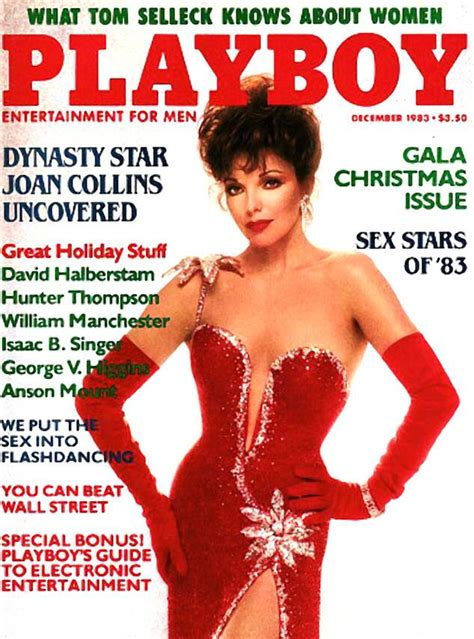 Joan Collins From Stars Who Posed Nude For Playboy E
