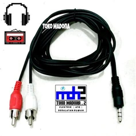 jual kabel rca 2 1 standar kabel audio 2 rca to aux stereo 3 5mm harga teman di lapak