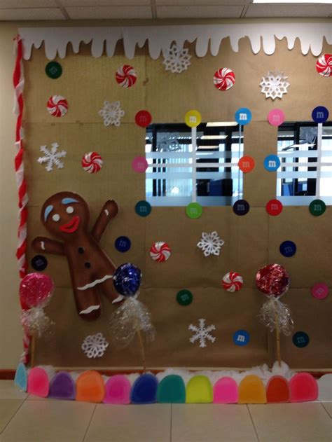 gingerbread cookie house office decoration remember