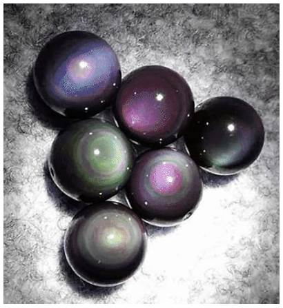 Obsidian Rainbow Stone Necklace Metaphysical Eye Properties