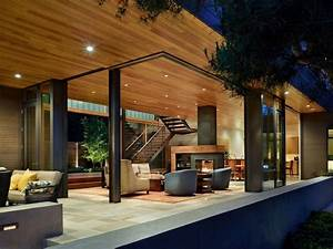 Houses, With, Interior, Courtyards, House, With, Courtyard, Design, Water, Front, Home, Plans