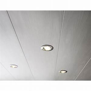 Lambris Pvc Plafond 3m : lambris pvc blanc artens x cm x mm ~ Dailycaller-alerts.com Idées de Décoration