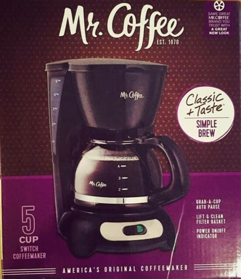 The most likely reason for your coffee maker's slow brewing pace is that it needs to be cleaned. Mr Coffee Simple Brew 5 Cup Switch Coffeemaker Black ...