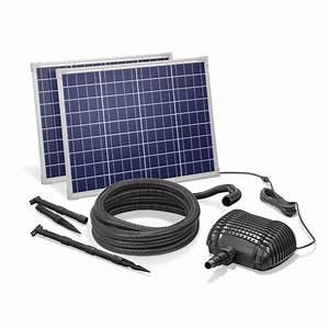 Pompe Bassin Solaire Jardiland : kit pompe solaire bassin premium 5000l 100w solairepratique ~ Dallasstarsshop.com Idées de Décoration