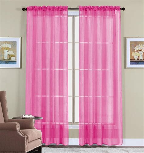 Pink Curtains by Pink Sheer Curtains