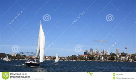 Parramatta Boat Cruise by Sail Boat In Sydney Harbour Royalty Free Stock Photos