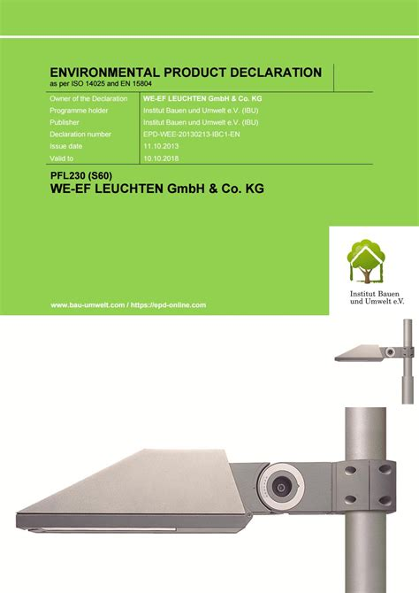 we ef leuchten we ef epd pfl230 s60 by we ef leuchten gmbh co kg issuu