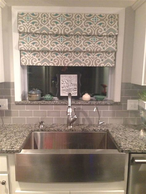 window treatments for kitchen window over sink no sew drapes over sink tension rods fake roman shades