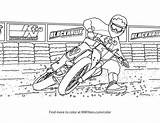 Coloring Bike Track Flat Printable Motorcycle Sheets Activity sketch template