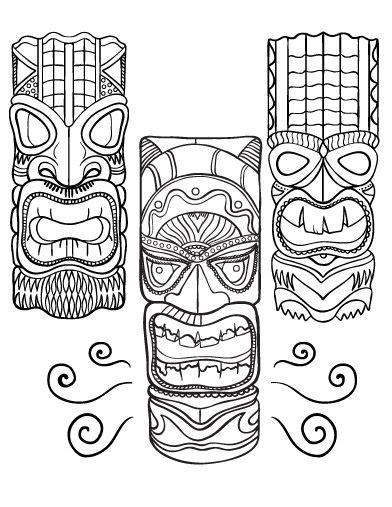 Tiki Totem Templates by 17 Best Ideas About Tiki Mask On Pinterest Tiki Totem