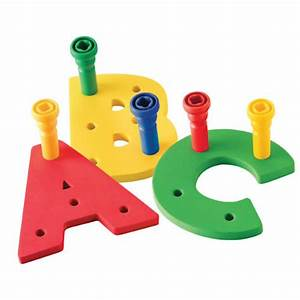 Quota z pegboard setquot product detail brain nut toys early for Large pegboard letters