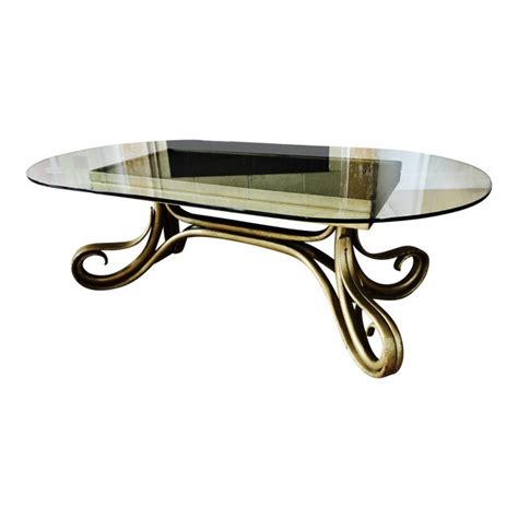 Coffee tables living room tables & modern console. Antique Thonet Bentwood Glass Coffee Table | Chairish