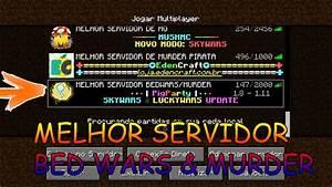 Minecraft MELHOR SERVIDOR PIRATA DE BED WARS MURDER DE