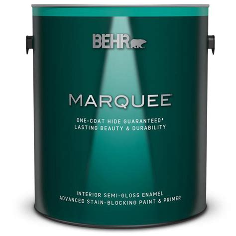 behr marquee 1 gal ultra white semi gloss enamel