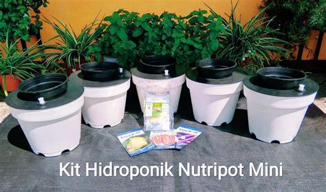 Jual Kit Hidroponik Mini kit menanam hidroponik nutripot mini abi agro dapatkan
