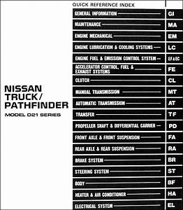 1991 Nissan Truck And Pathfinder Shop Manual 91 Oem Pickup