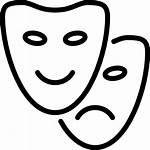 Icon Theater Theatre Masks Svg Drama Mask