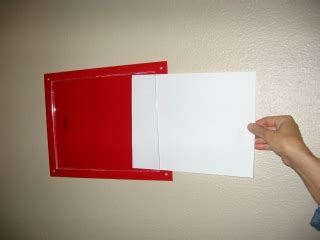 wall mounted data sizes sign holder cleanroom office evacuation map holder