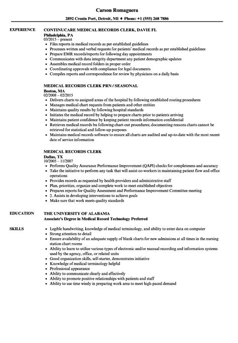 Medical Records Clerk Resume Samples  Velvet Jobs. Sample Resume Of Sales Manager. School Bus Driver Job Description For Resume. Hair Stylist Assistant Resume Sample. Best Resume I Have Ever Seen. Sample Government Resume. Leadership Resume Examples. What Is Profile Summary In Resume. Preparing A Resume
