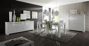 salle a manger laquee blanche design twist salle a With salle À manger contemporaineavec meubles salle a manger soldes