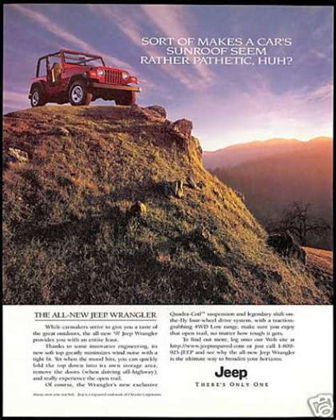 jeep wrangler ads vintage car advertisements of the 1990s page 11