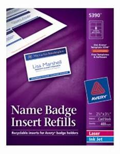 name badge insert refills With avery 5390 name badge template