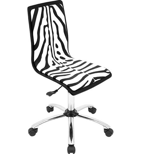 animal print desk chair zebra print office chair in armless office chairs
