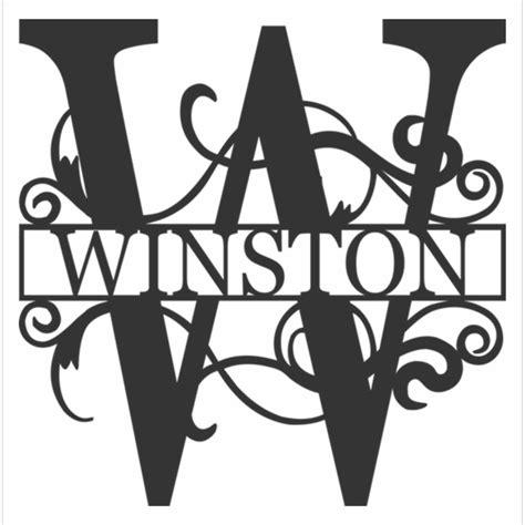 monogram letter custom  metal initial ajd designs homestore