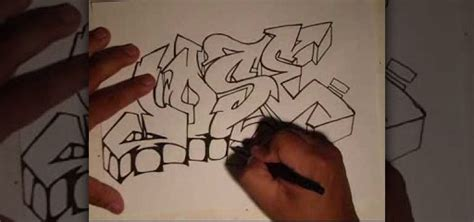 Graffiti Old School Style : How To Write A Name In An Old School Graffiti Style