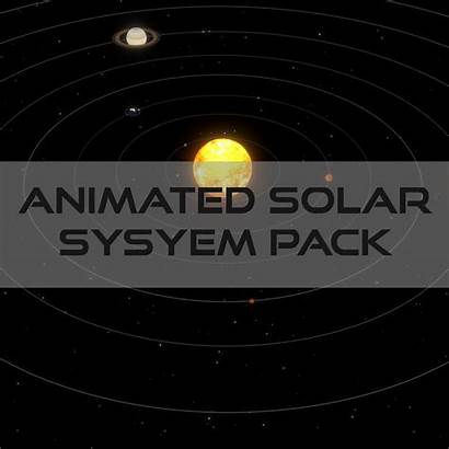 Solar System Animated 3d Pack Presentation Low