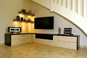 Meuble D Angle Salon : le meuble t l r v le toutes ses formes et couleurs ~ Teatrodelosmanantiales.com Idées de Décoration