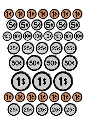 set  usa coins printable template  printable