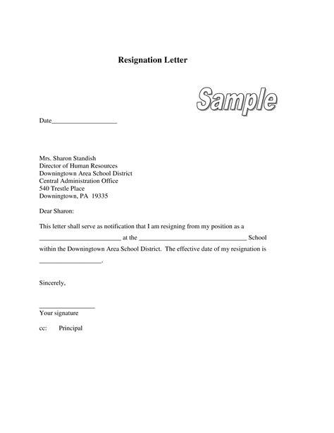 libreng teacher resignation letter  principal