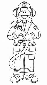 Firefighter Coloring Pages Cartoon sketch template