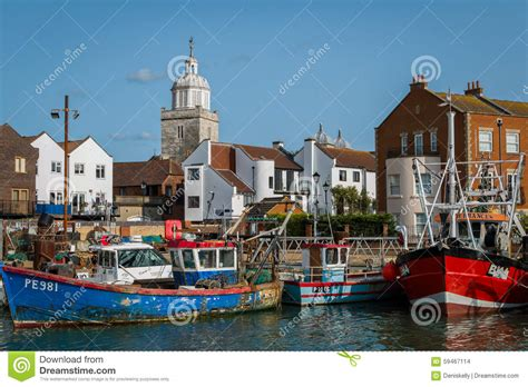 Boats Portsmouth by Fishing Boats In Portsmouth Royalty Free Stock Photography