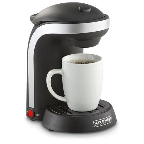 Pop in your favorite coffee pod, press a button or two, and you're ready to go. one-cup-coffee-maker | How to Organize