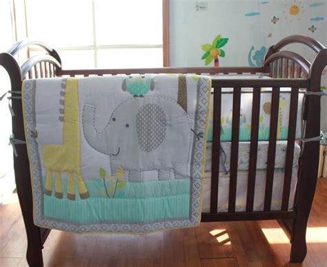100% Cotton Embroidery Owl Elephant Giraffe Baby Bedding