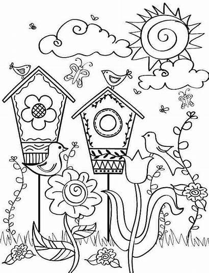 Spring Printable Season Coloring Sheets Colouring Boys