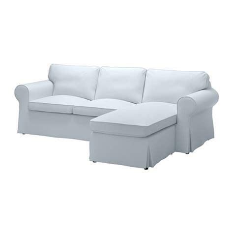 chaise longue ikea ektorp ektorp two seat sofa and chaise longue nordvalla light blue ikea