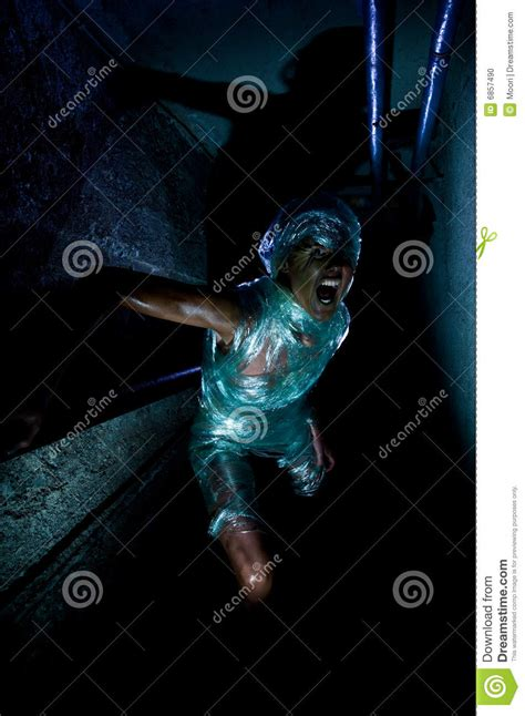 plastic mummy stock photo image  aggression shouting