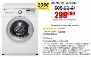 Bon Plan Lave Linge : lave linge lg f74771wh prix imbattable sur cdiscount le bon plan ~ Dode.kayakingforconservation.com Idées de Décoration
